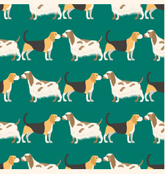 funny cartoon dog character bread seamless pattern vector image vector image