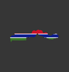 gambia flag and map vector image vector image