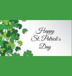 happy saint patrick day congratulation card with vector image