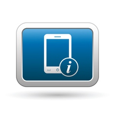 Phone with information icon vector image vector image
