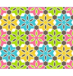 Seamless Bright Fun Abstract Ornament Pattern vector image