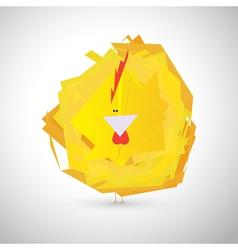 Stylish chicken vector image
