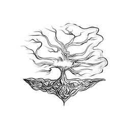 Tattoo tree vector