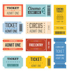 vintage tickets in different style vector image