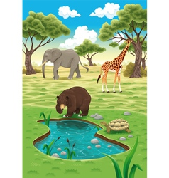 Animals in the nature vector image vector image