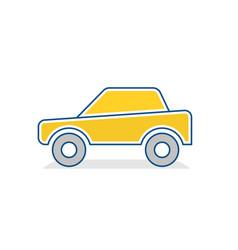 auto icon car traffic sign vector image