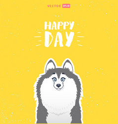 cute husky vector image vector image