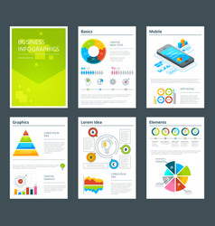 design template of business annual reports vector image vector image