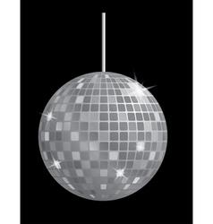 disco mirror ball vector image
