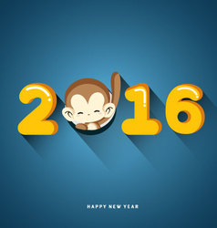 Happy New Year 2016 Year of Monkey vector image vector image
