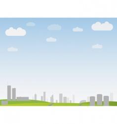 simple city landscape vector image