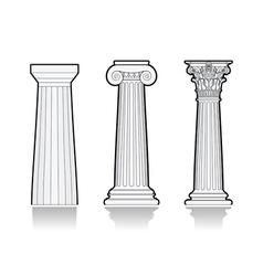 Stylized Greek columns vector image vector image