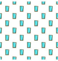 Glass interior door pattern cartoon style vector image vector image