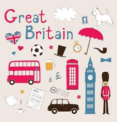 Great Britain set vector image vector image