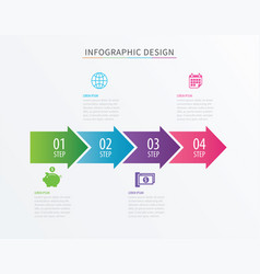 infographics arrow number 4 step template vector image