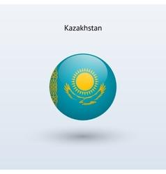 Kazakhstan round flag vector image