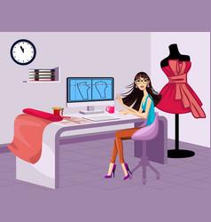 modern fashion designer vector image vector image