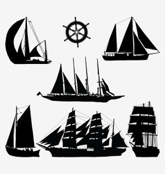 ships and rudder vector image vector image