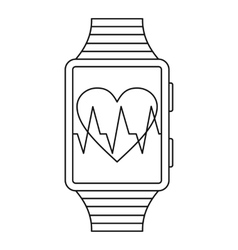 Smartwatch sport icon outline style vector image vector image