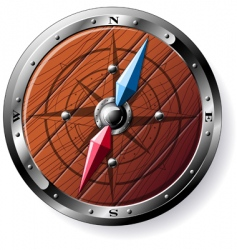 wooden compass vector image vector image