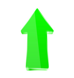 green shiny arrow vector image
