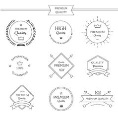 Premium quality line labels set vector image vector image