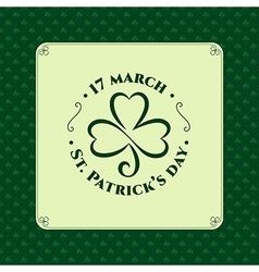 St patrick symbol stamp vector image vector image