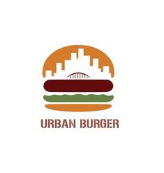 urban burger concept vector image vector image