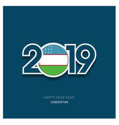2019 uzbekistan typography happy new year vector