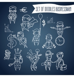 a cartoon businessman vector image