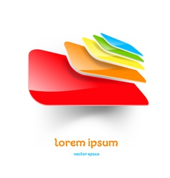 Abstract folders icon vector
