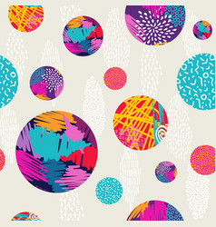 abstract hand drawn colorful pattern background vector image