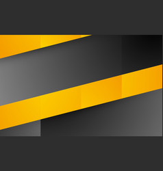 abstract yellow black shape background vector image