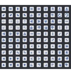 Arrow icon set square vector