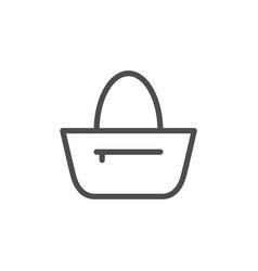 bag line icon vector image