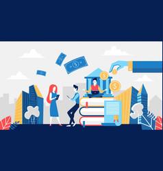 bank deposit concept online financial payment vector image