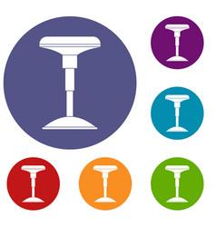Bar stool icons set vector