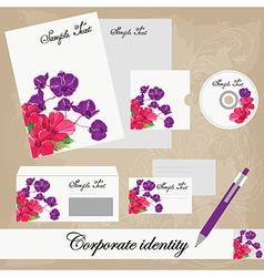 Beautiful corporate set vector image