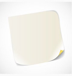 Blank white paper sheet vector image