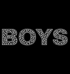 Boys text in polygonal mesh style vector