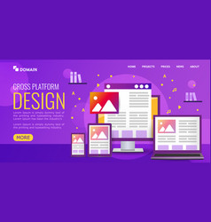 bright for design landing page vector image
