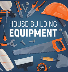 building equipment construction and repair tools vector image