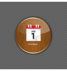 Calendar wood application icons vector image