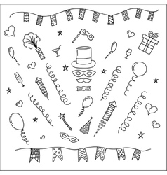 Carnival symbols collection - party decorations vector