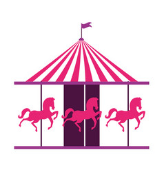 carousel circus carnival vector image