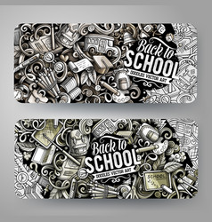 Cartoon graphics hand drawn doodles school vector