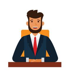 chairman of the board cartoon flat vector image