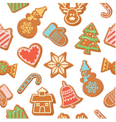 christmas seamless background colorful vector image