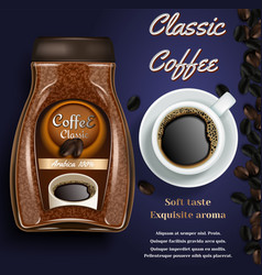 Coffee branding poster flyer design vector