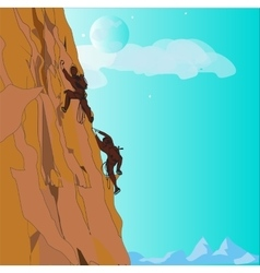 Couple Climbing Up vector image